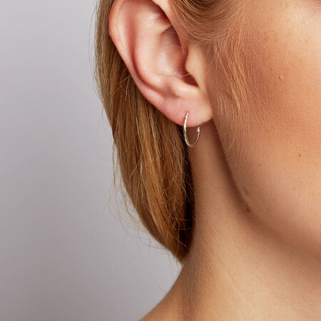 14mm Sleeper Earrings in Sterling Silver