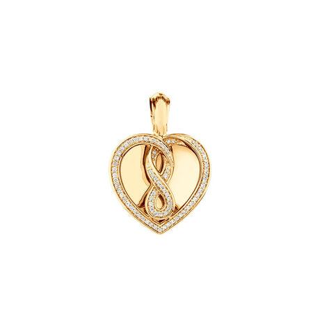 Infinitas Enhancer Pendant with 0.34 Carat TW of Diamonds in 10ct Yellow Gold