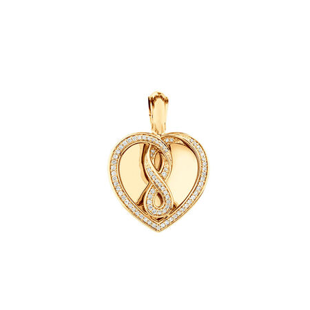 Infinitas Enhancer Pendant with 0.34 Carat TW of Diamonds in 10ct Yellow Gold