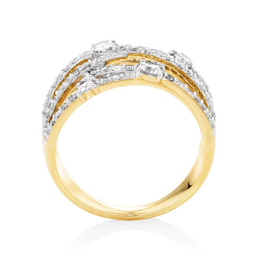 1 Carat TW of Diamonds Ring in 10ct Yellow Gold