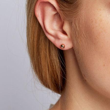 5mm Stud Earrings in 10kt Rose Gold