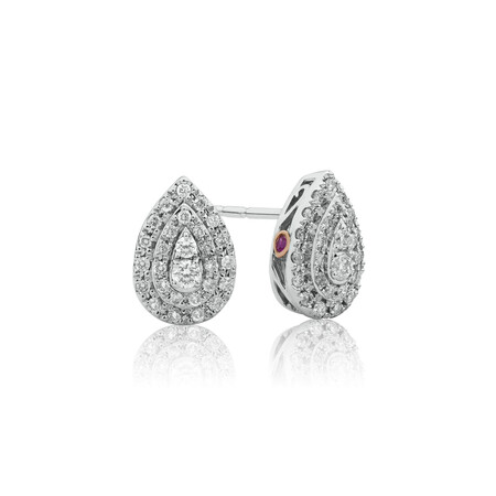 Sir Michael Hill Designer Fashion Earrings with 0.33 Carat TW of Diamonds in 10ct White Gold