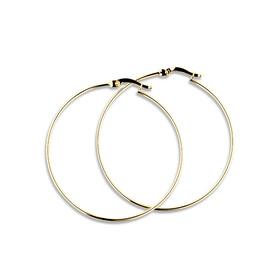 42mm Hoop Earrings in 10ct Yellow Gold