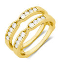 Enhancer Ring with 1/4 Carat TW of Diamonds in 10ct Yellow Gold