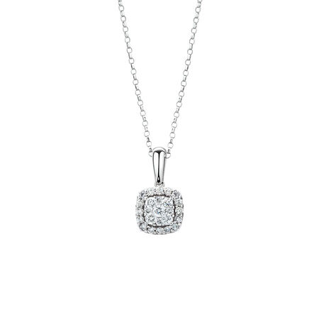 Pendant with 1/3 Carat TW of Diamonds in 10ct White Gold