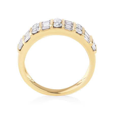 Ring with 1 Carat TW of Diamonds in 10ct Yellow Gold