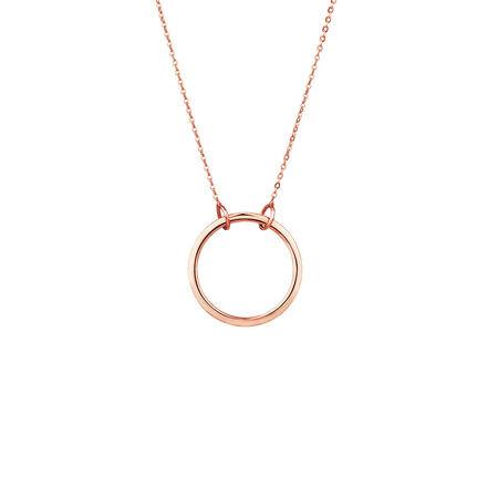 Circle Pendant in 10ct Rose Gold