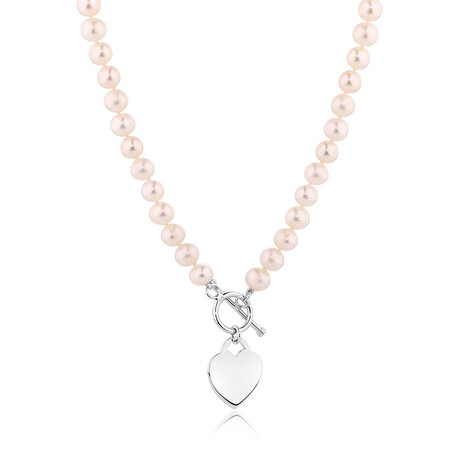 """45cm (18"""") Necklace with Cultured Freshwater Pearls in Sterling Silver"""