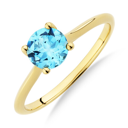 Ring with Topaz in 10ct Yellow Gold