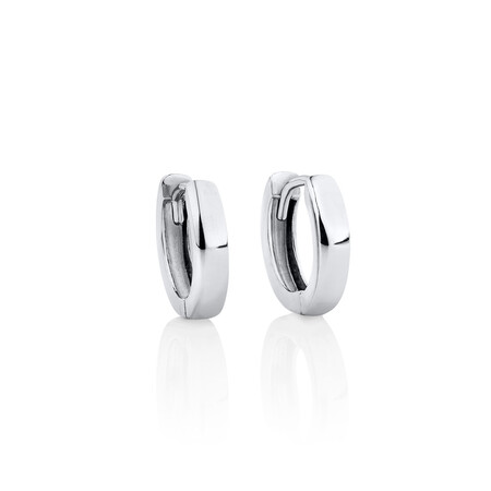 12mm Huggie Earrings in Sterling Silver