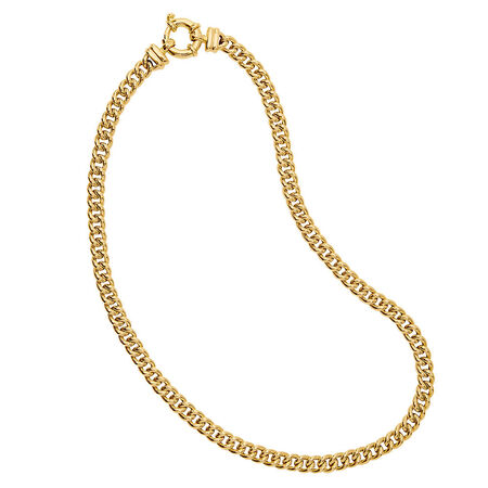 "45cm (18"") Hollow Double Curb Chain in 10ct Yellow Gold"