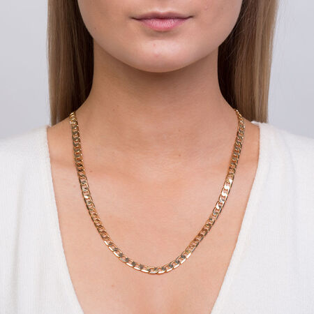 """55cm (22"""") Curb Chain in 10ct Yellow Gold"""