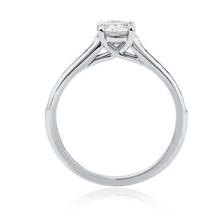 Evermore Engagement Ring with 1 Carat TW of Diamonds in 18ct White Gold
