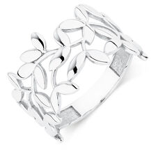 Olive Leaf Ring in Sterling Silver