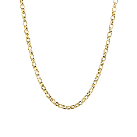 """60cm (24"""") Oval Belcher Chain in 10ct Yellow Gold"""
