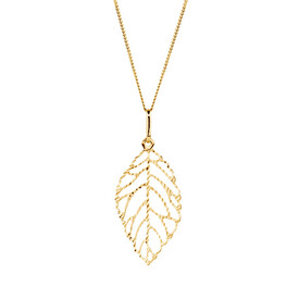 Leaf Pendant in 10ct Yellow Gold
