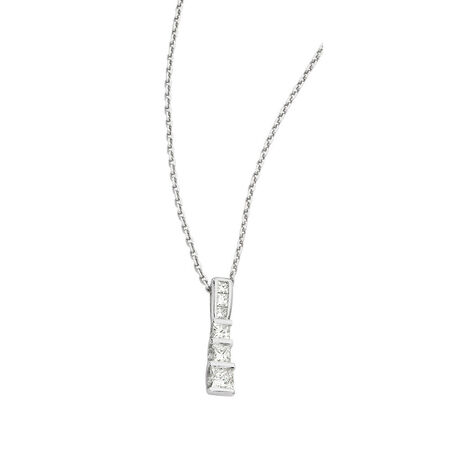 "45cm (18"") Solid Cable Chain in 18ct White Gold"