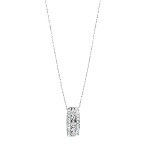 Three Row Pendant with 0.34 Carat TW of Diamonds in 10ct White Gold 6d9a68c72