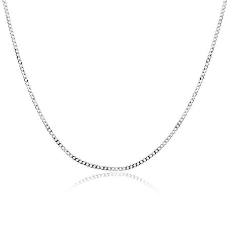 """50cm (20"""") Curb Chain in 10ct White Gold"""