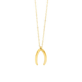 Mark Hill Wishbone Necklace in 10ct Yellow Gold