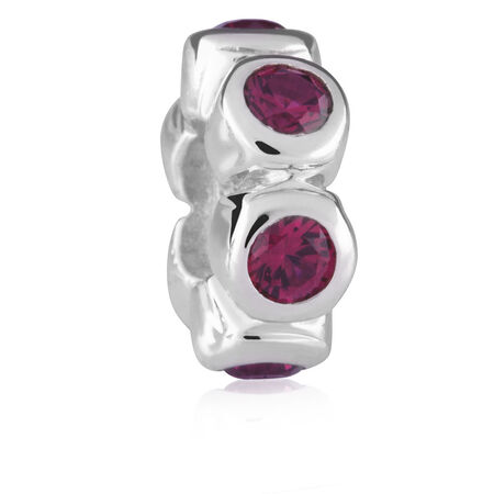 Created Ruby & Sterling Silver Charm