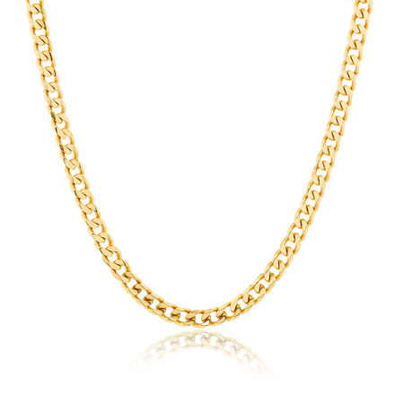 "Men's 55cm (22"") Curb Chain in 10ct Yellow Gold"