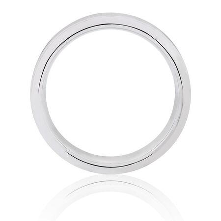 7mm Men's Ring in White Tungsten