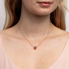 Round Charm in 10ct Rose Gold