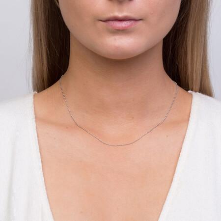 """40cm (16"""") Belcher Chain in 10ct White Gold"""