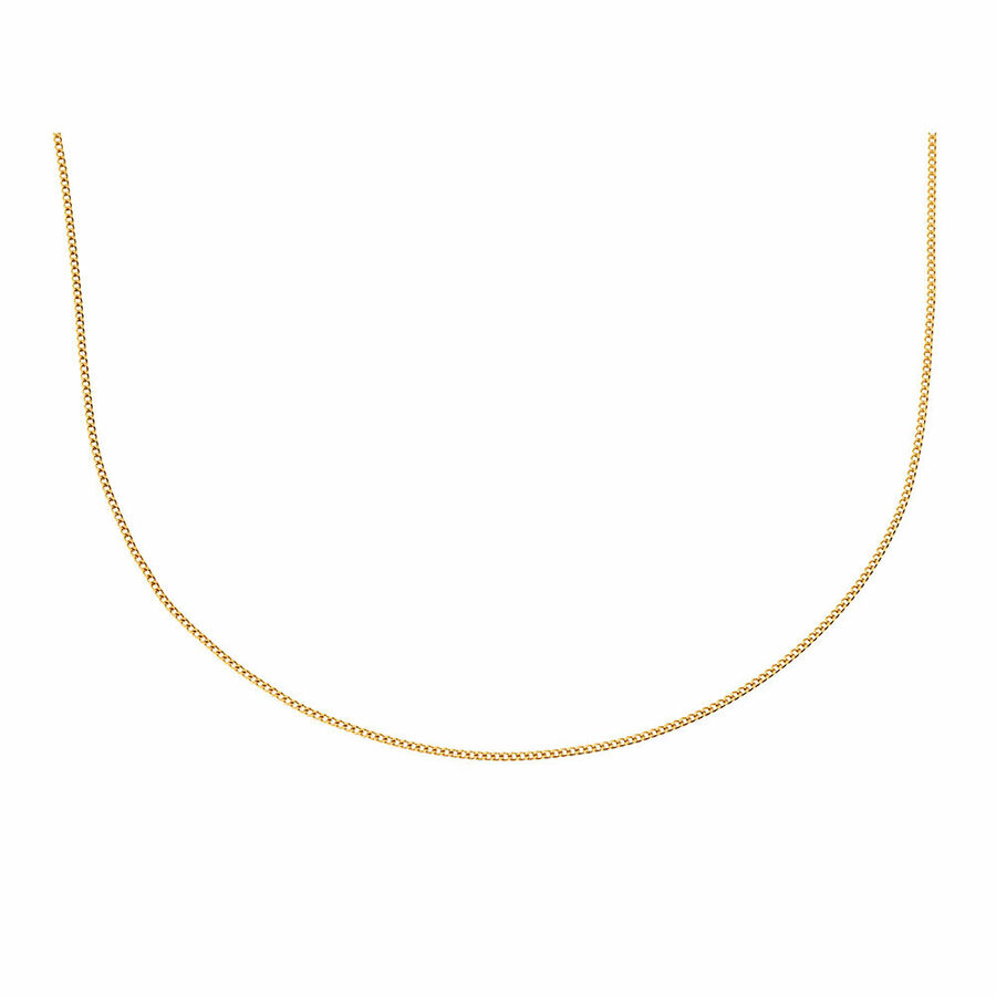 """45cm (18"""") Curb Chain in 10ct Yellow Gold"""