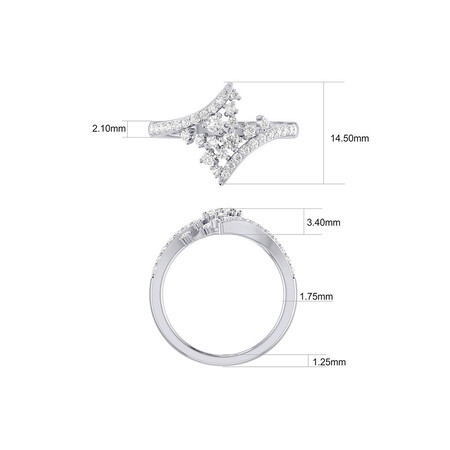 Scatter Ring with 0.50 Carat TW of Diamonds in 10ct White Gold