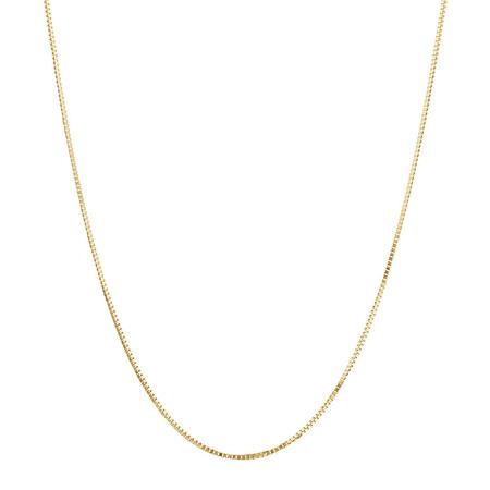 "50cm (20"") Box Chain in 18ct Yellow Gold"