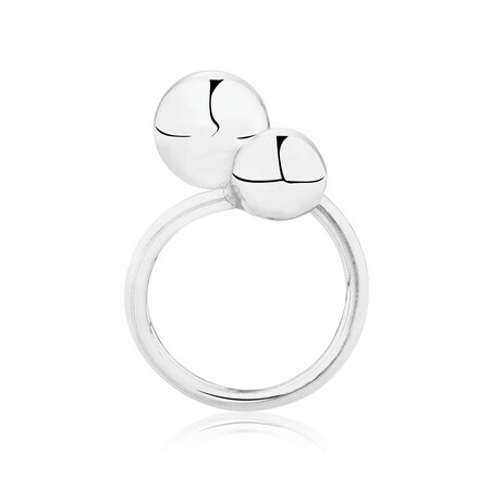 Double Ball Ring in Sterling Silver