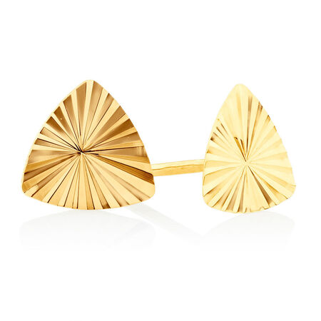 Stud Earrings Gift Set in 10ct Yellow Gold