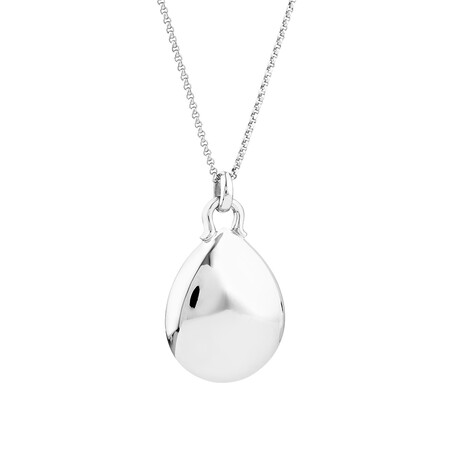 Sculpture Dome Oval Pendant in Sterling Silver