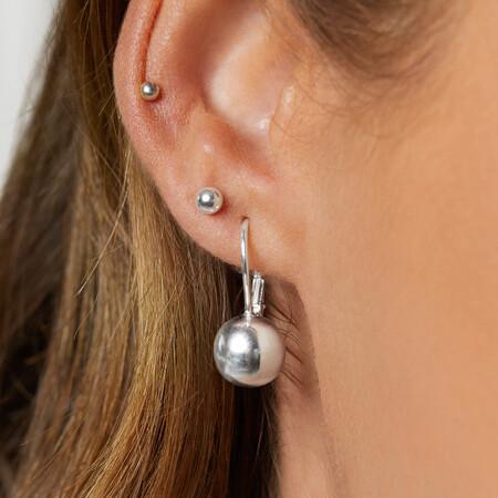 Ball Earrings in Sterling Silver