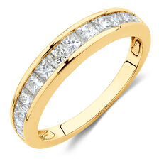 Wedding Band with 1 Carat TW of Diamonds in 10ct Yellow Gold
