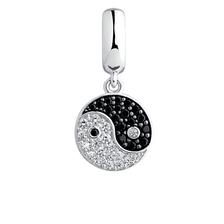 Cubic Zirconia & Sterling Silver Balance Dangle Charm