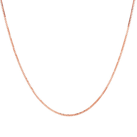 """50cm (20"""") Box Chain in 10ct Rose Gold"""