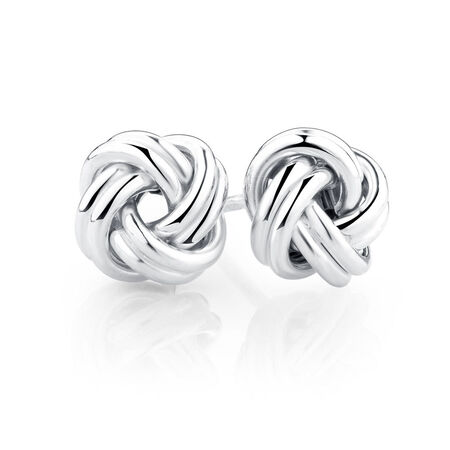 Stud Earrings in Sterling Silver