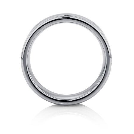 Men's Ring in Carbon Fibre & Grey Tungsten