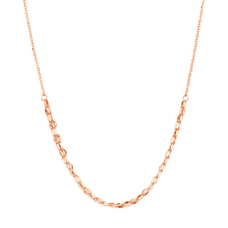Adjustable Choker Necklace in 10ct Italian Rose Gold