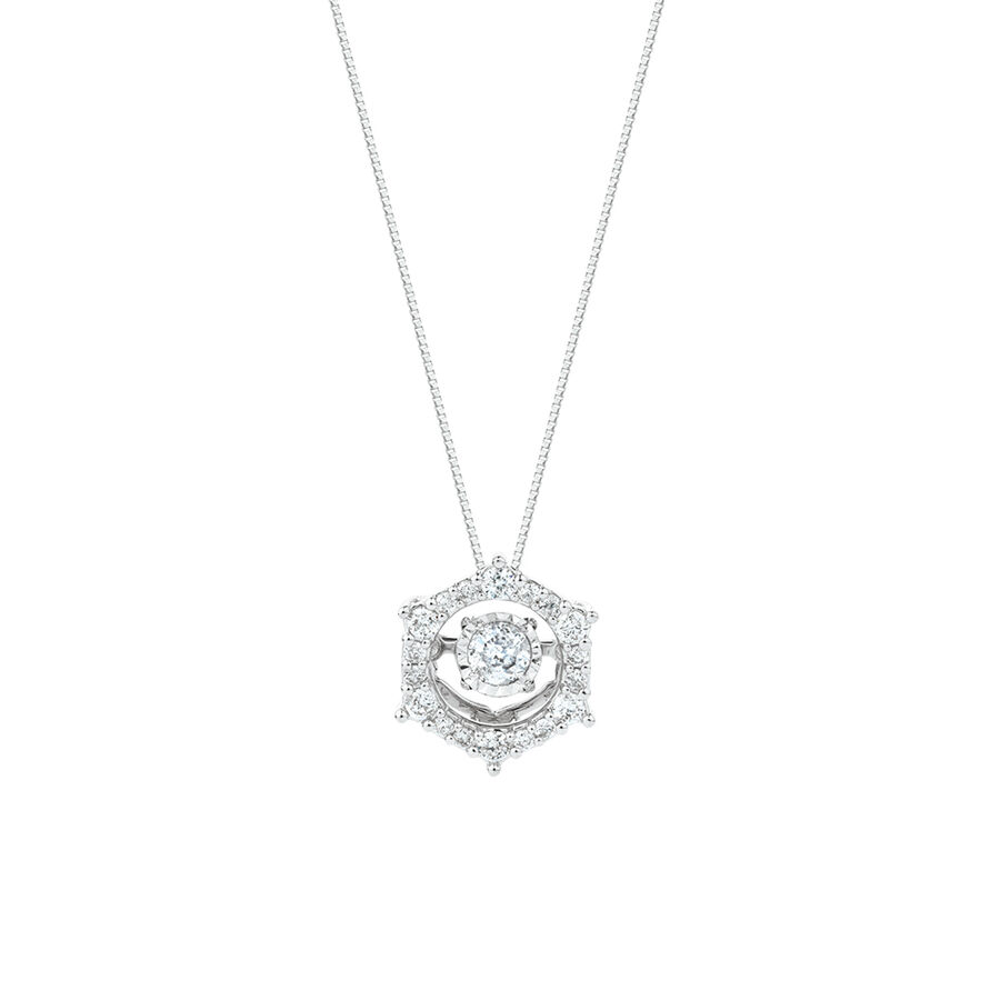 Everlight Pendant with 0.33 Carat TW of Diamonds in 10ct White Gold