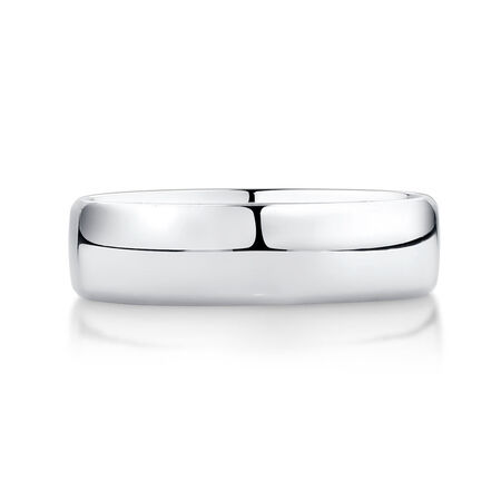 Men's Wedding Band in Platinum