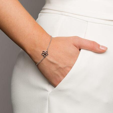 """19cm (7.5"""") Flower Bracelet in Sterling Silver"""