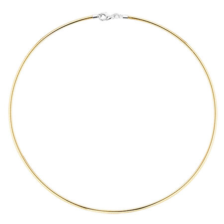 "45cm (18"") Solid Chain in 10ct Yellow & White Gold"