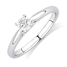 Solitaire Engagement Ring with a 1/4 Carat Diamond in 14ct White Gold