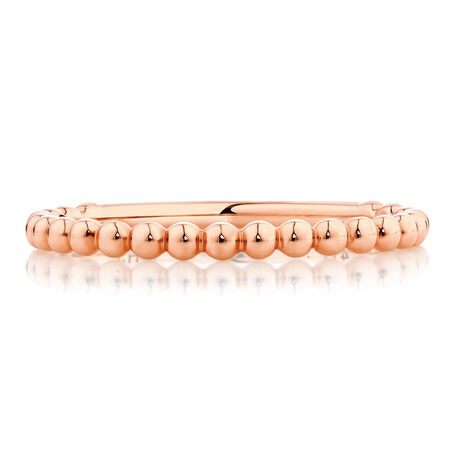 Ball Stack Ring in 10ct Rose Gold