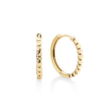 Huggie Earrings in 10ct Yellow Gold
