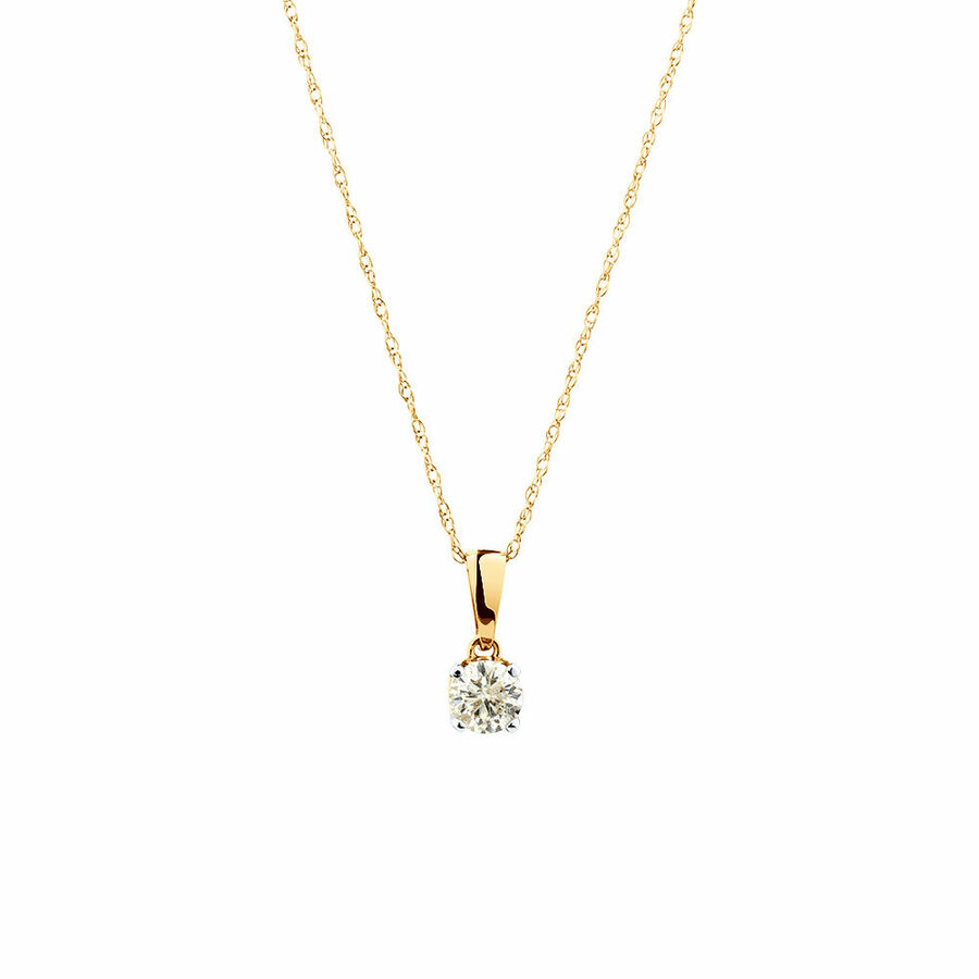 Pendant with 0.30 Carat TW of Diamonds in 10ct Yellow Gold